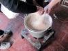 polenta-making