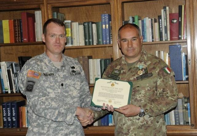 Medaglia americana per il colonnello Biondi | barganews com
